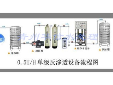 0.5T/H单级反渗透流程图